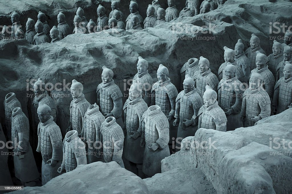Terra Cotta Warriors royalty-free stock photo