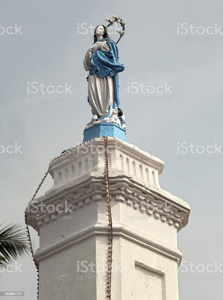 Terrace at the Church, Panjim stock photo