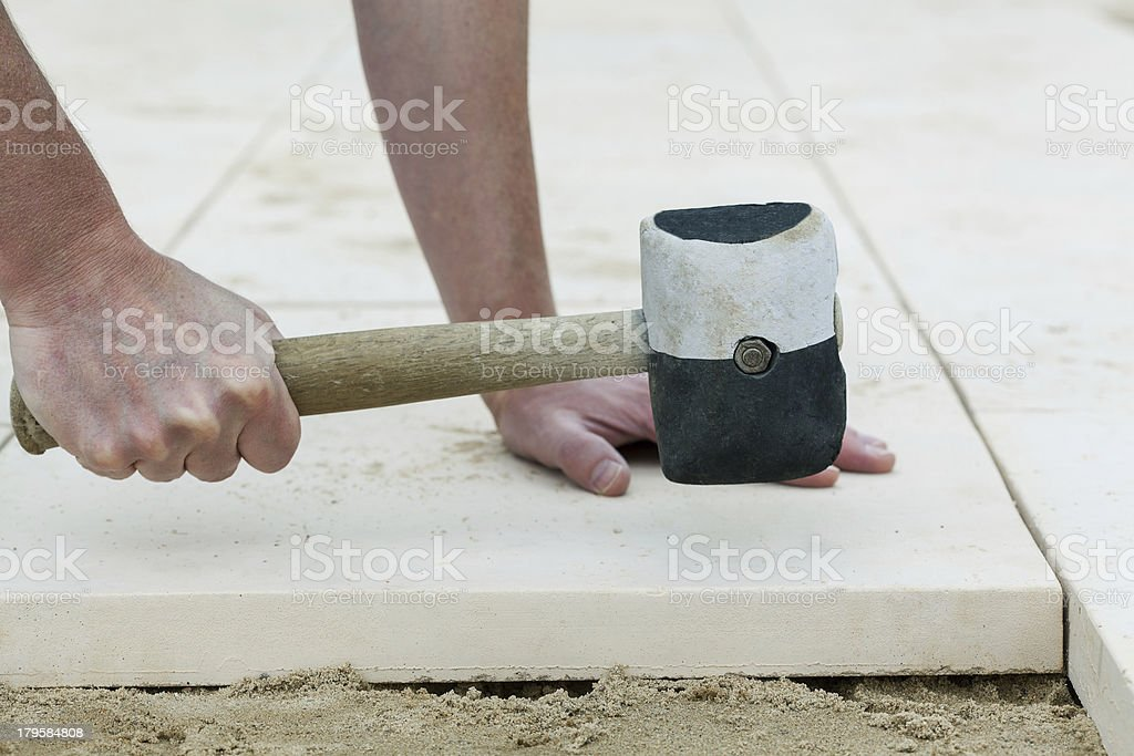 Terrace ground finishing royalty-free stock photo