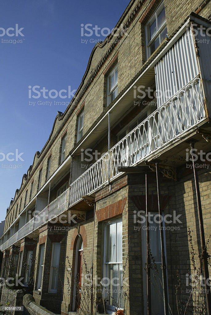 Terrace Houses Aldeburgh stock photo