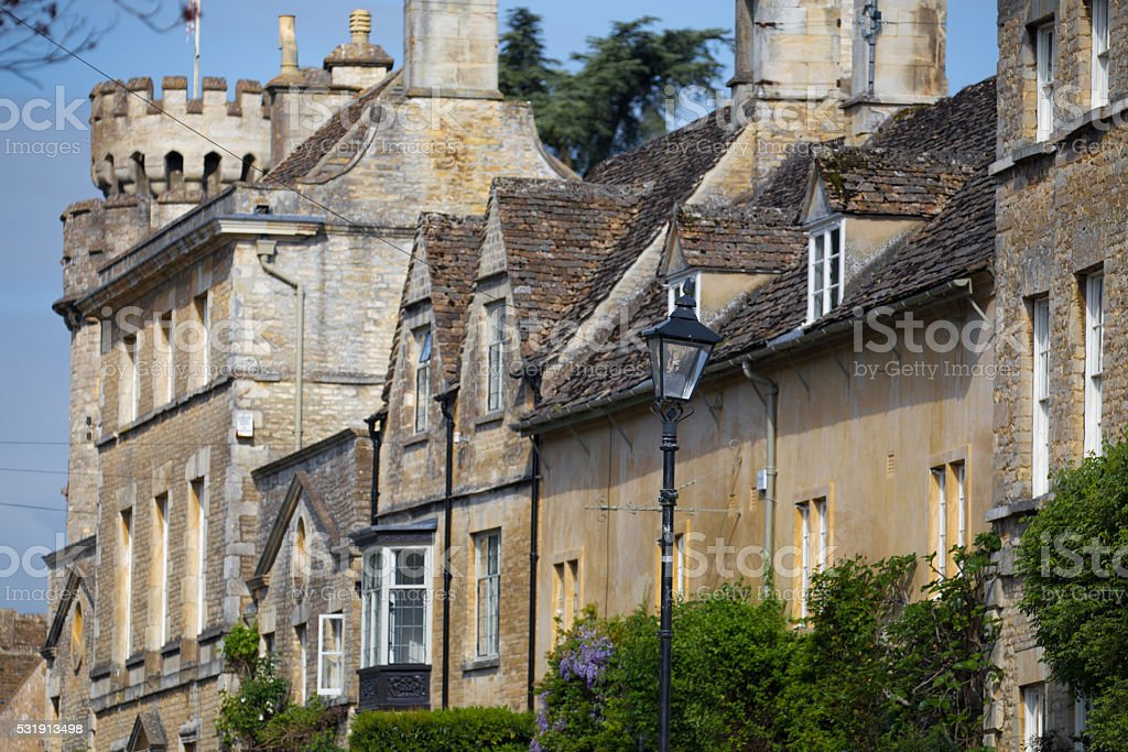 Terrace Houses in Cecily Hill Cirencester Gloucestershire UK stock photo