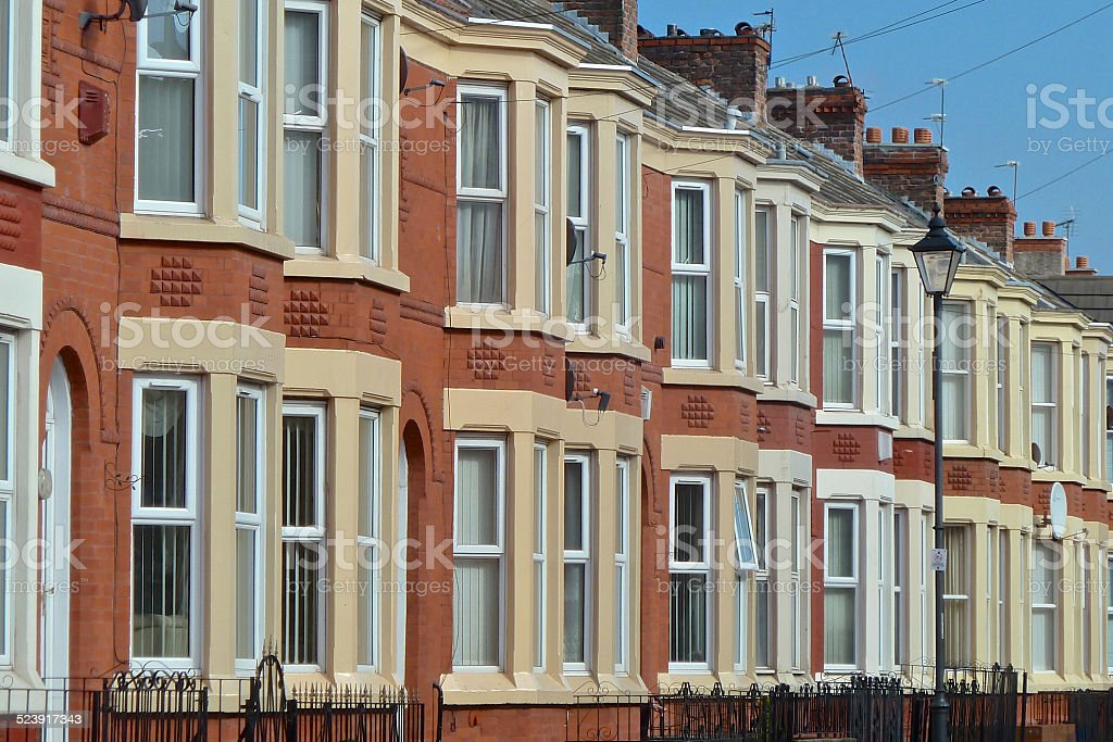 Terrace Houses stock photo