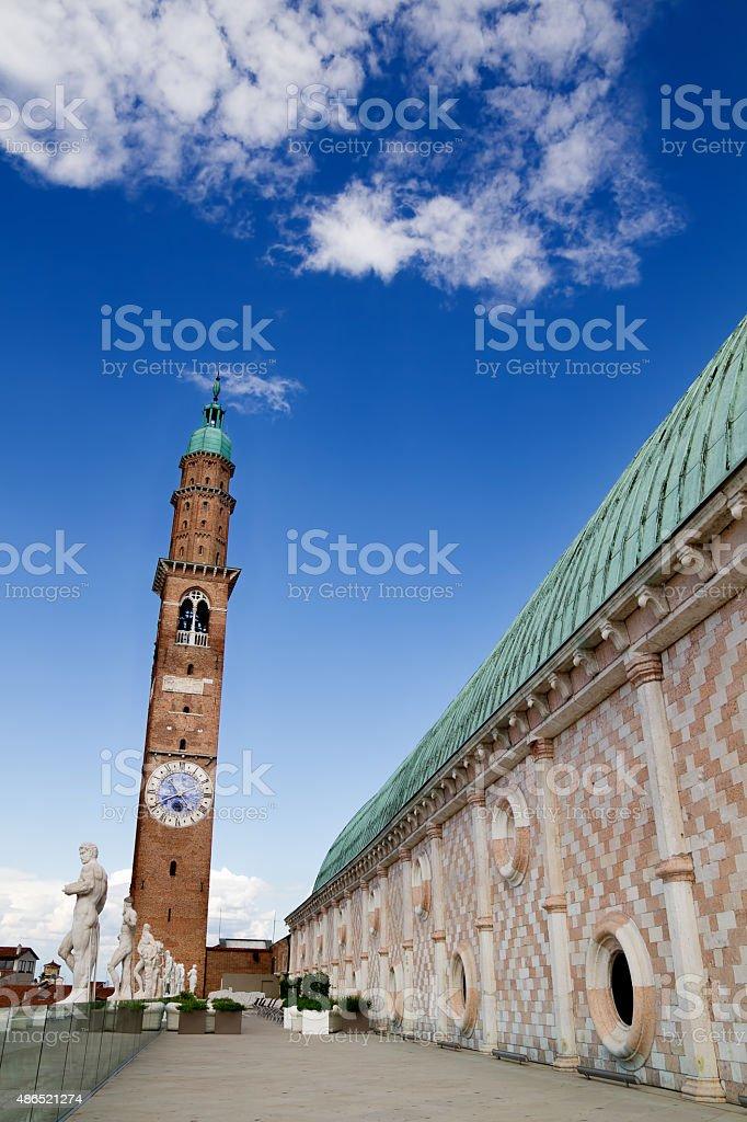 Terrace of  Basilica, Vicenza, Italy stock photo