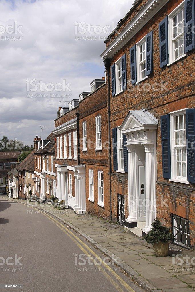 Terrace of Georgian houses. stock photo