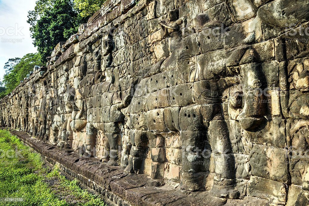 Terrace of the Elephants, Angkor Wat royalty-free stock photo