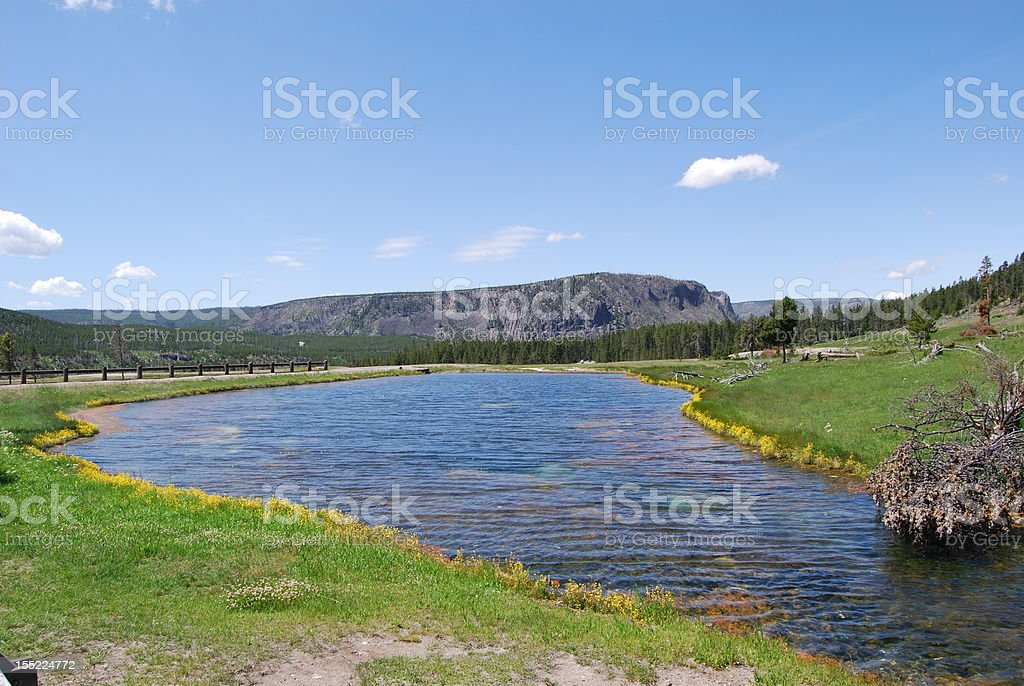 Terrace Springs Yellowstone National Park royalty-free stock photo