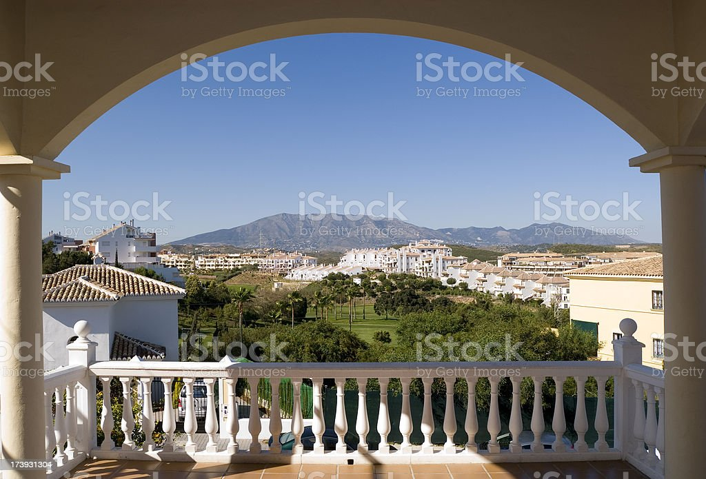 Terrace view royalty-free stock photo