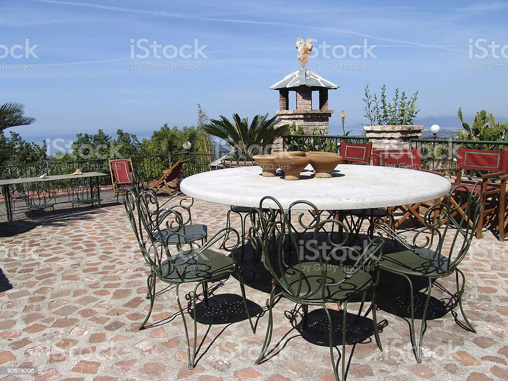 terrace with seaview royalty-free stock photo
