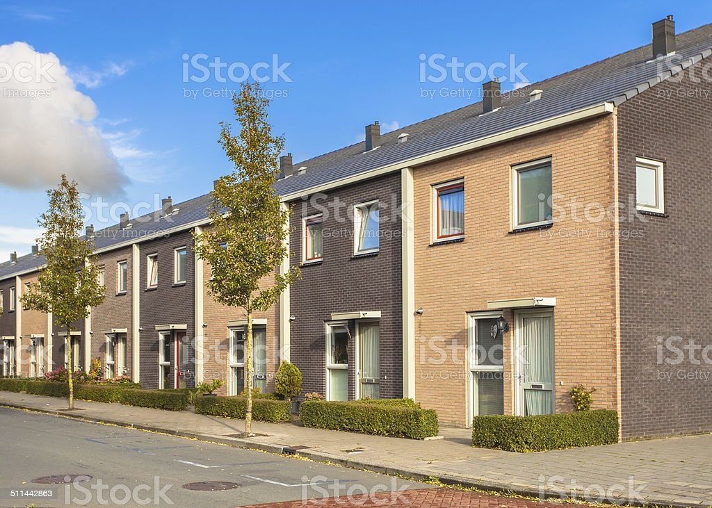 Terraced Family Houses stock photo