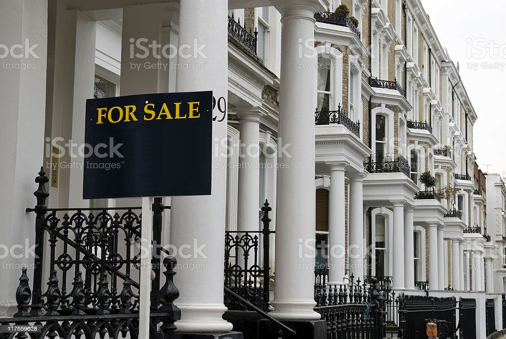 Terraced house For Sale at West-London. stock photo