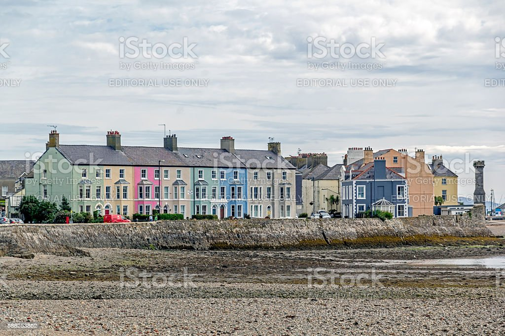 Terraced Houses, Anglesey stock photo