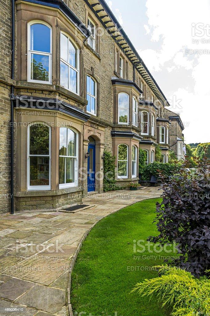 Terraced Houses Buxton stock photo