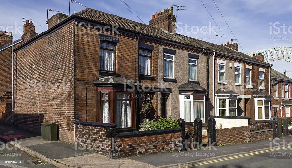 Terraced Houses Cheshire stock photo