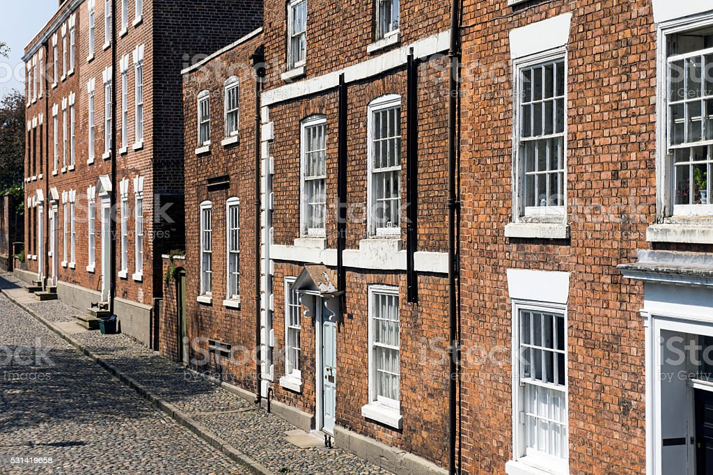 Terraced Houses Chester stock photo