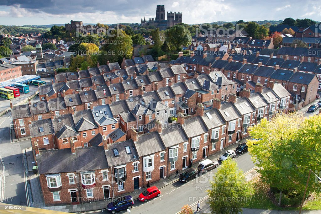 Terraced Houses In Durham stock photo