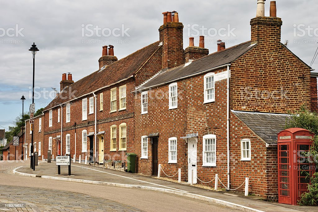 Terraced houses in Hamble-le-Rice stock photo