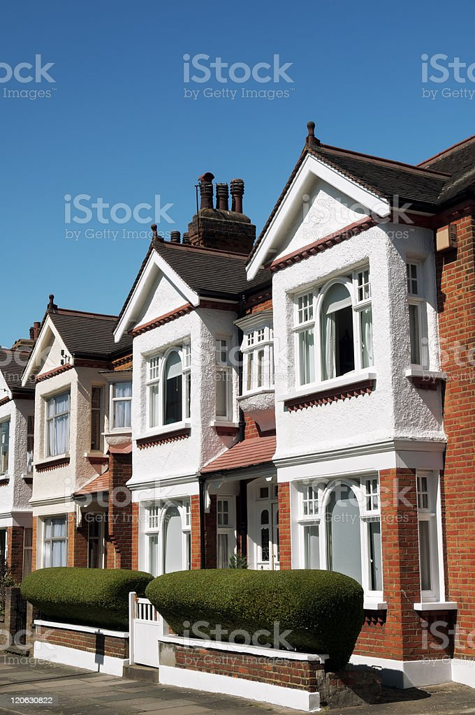 Terraced Houses in London royalty-free stock photo