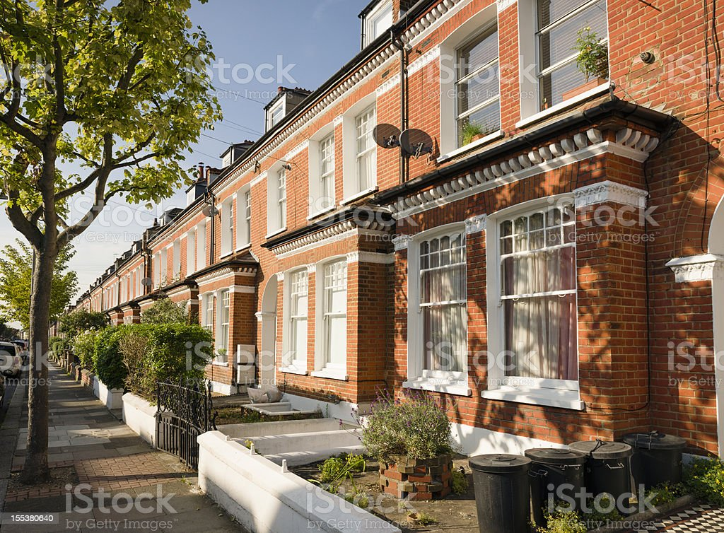 Terraced Houses in South London stock photo