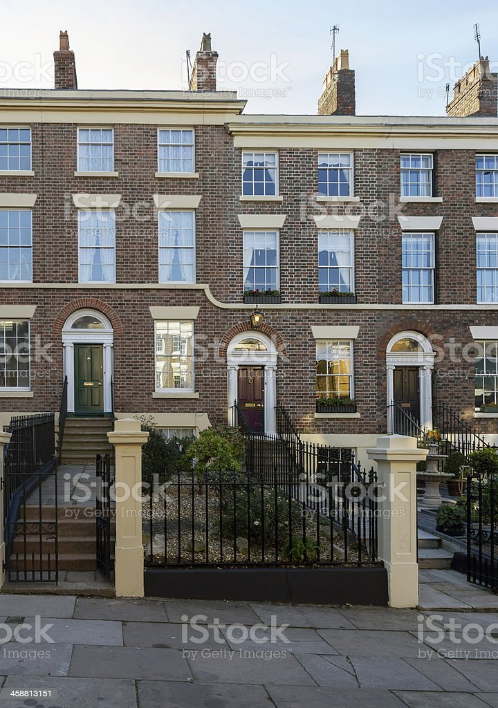 Terraced Houses Liverpool royalty-free stock photo