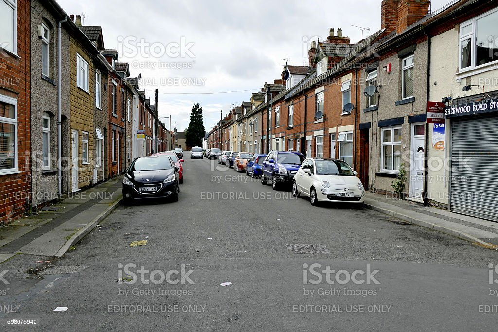 Terraced houses. stock photo