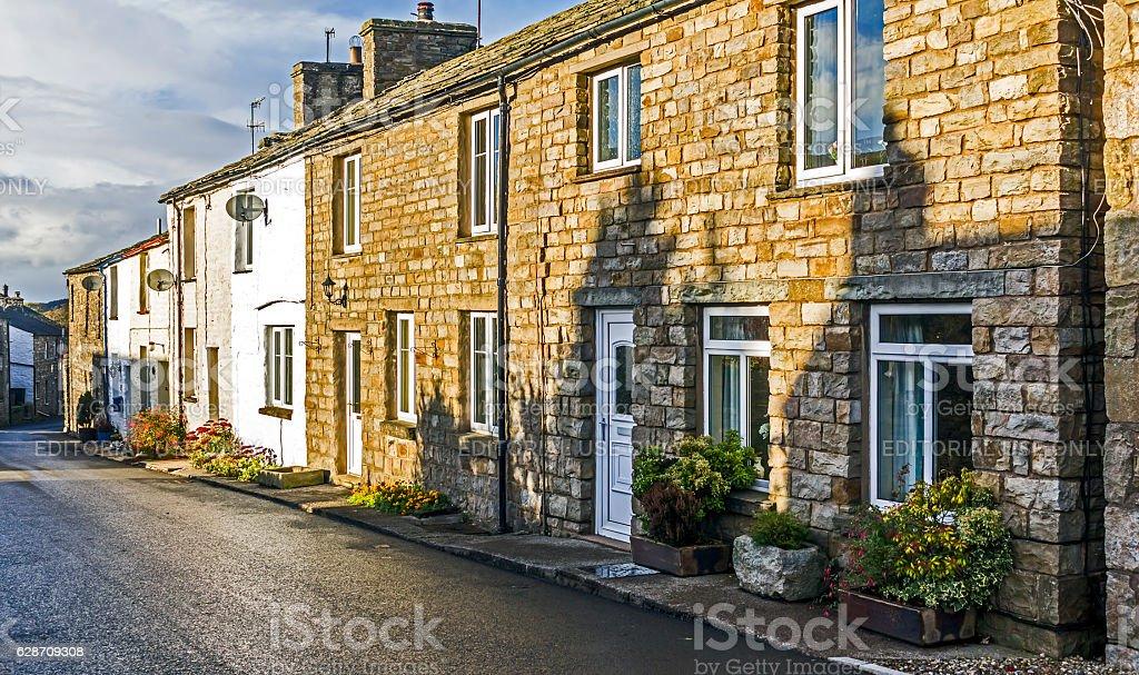 Terraced Houses, Windermere, Cumbria stock photo