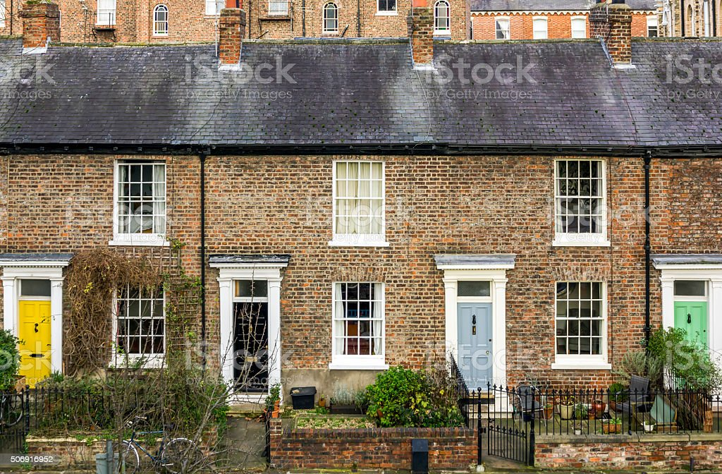 Terraced Houses York stock photo