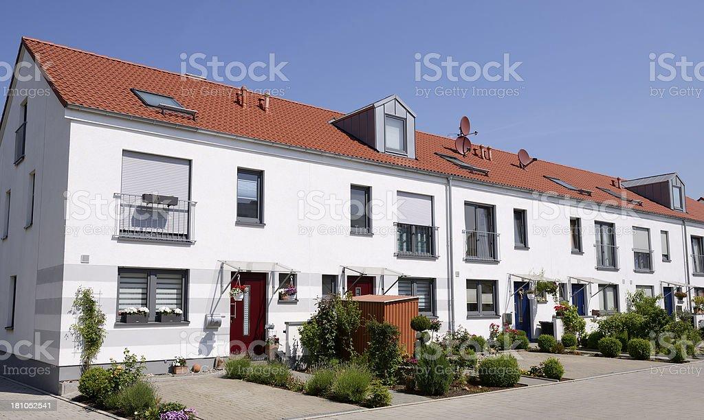 Terraced housing royalty-free stock photo