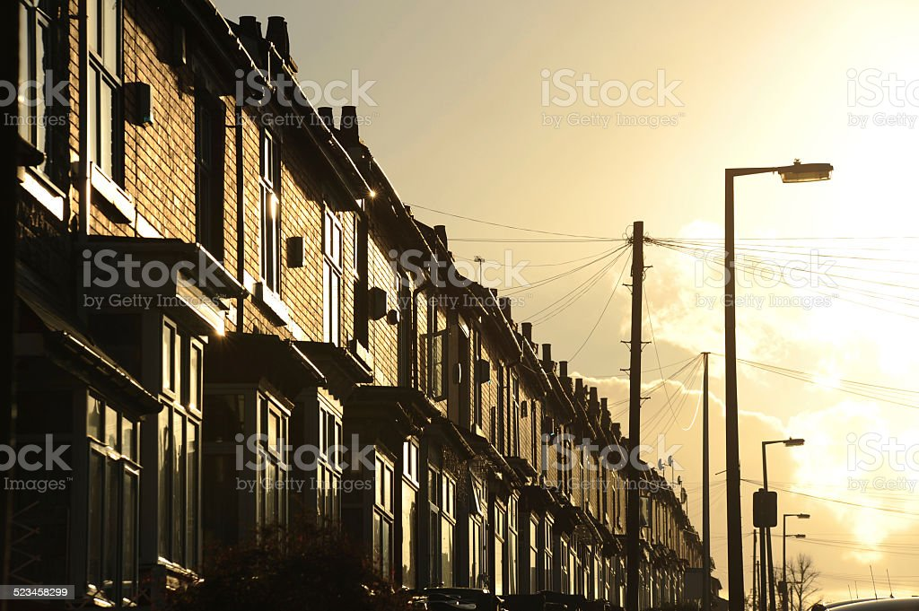 Terraced Housing stock photo