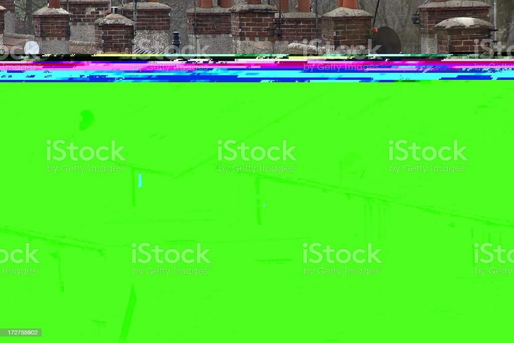 Terraced rooftops royalty-free stock photo