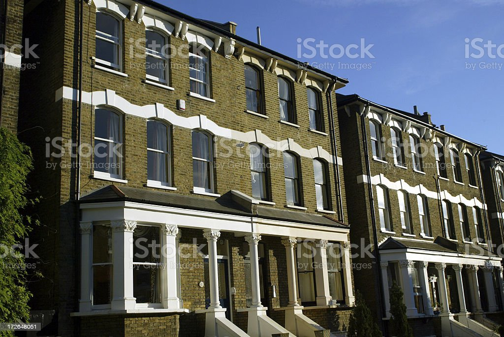 Terraced Town Houses London royalty-free stock photo