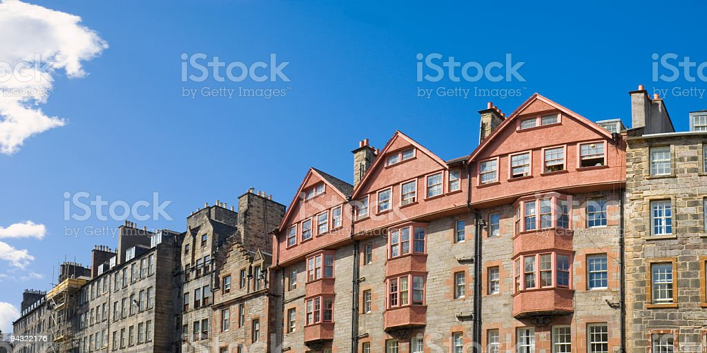 Terraced townhouses stock photo