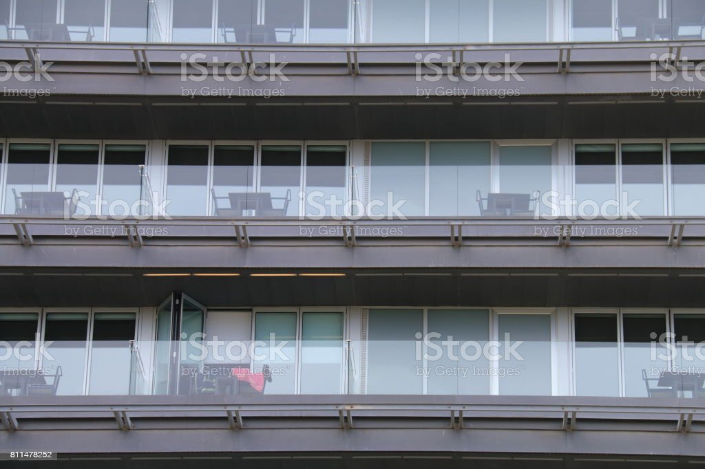 Terraces of a building stock photo