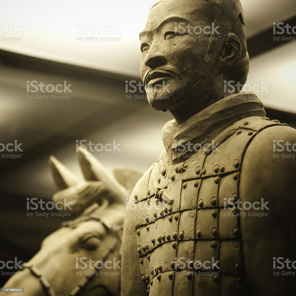 Terracotta Army in Qin Shi Huang's Tomb stock photo