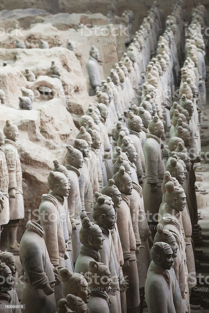 Terracotta Army in Qin Shi Huang's Tomb royalty-free stock photo