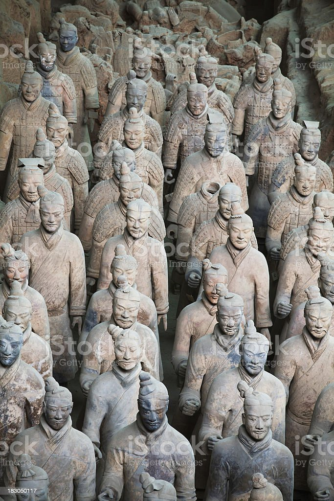 Terracotta Army in Qin Shi Huang's Tomb XXXL royalty-free stock photo