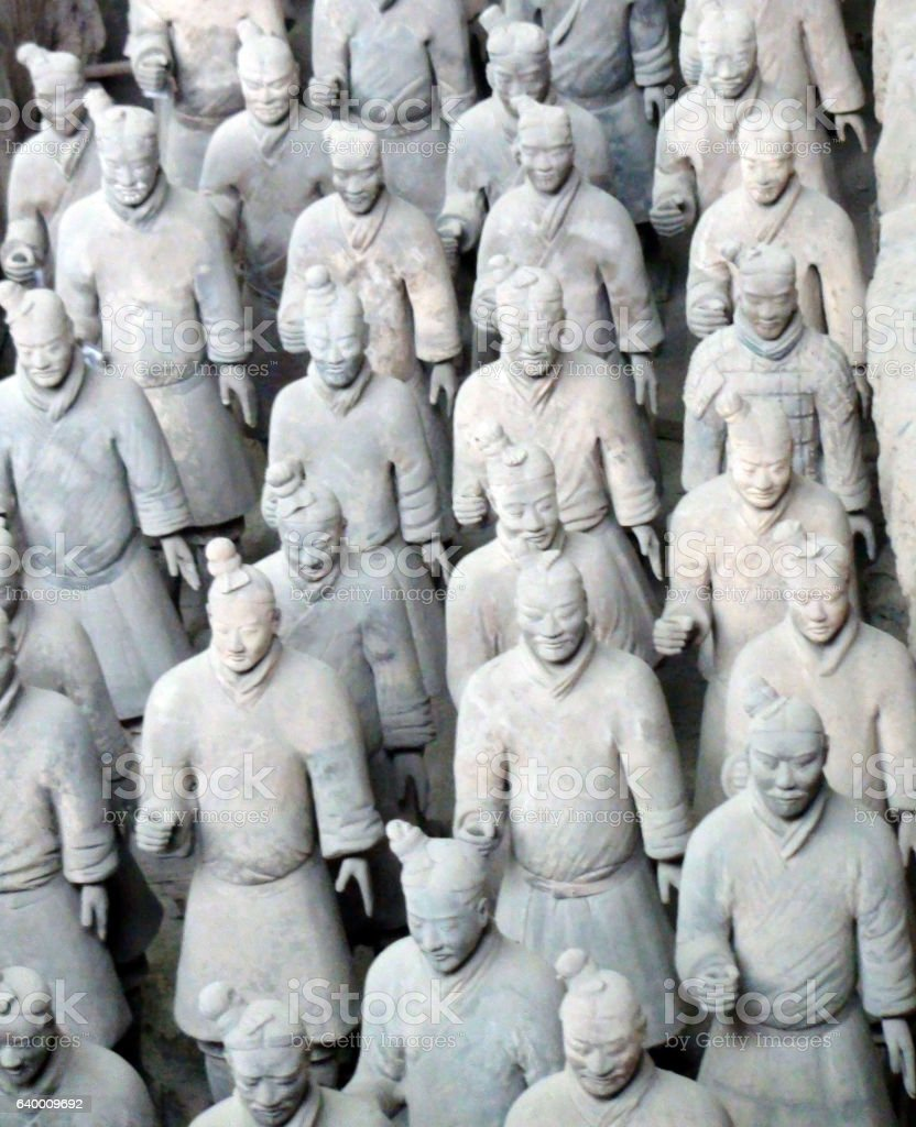 Terracotta Army In Xi'an Shaanxi Province China stock photo