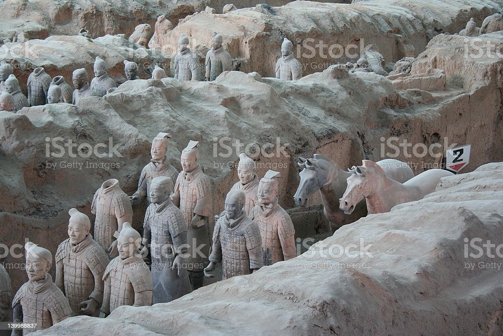 Terracotta Army (Pit #1) royalty-free stock photo