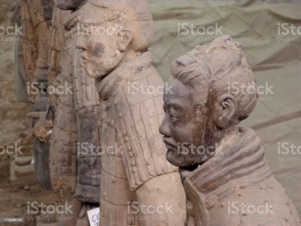 Terra-cotta army royalty-free stock photo