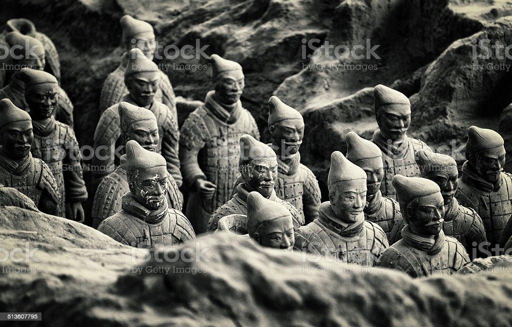 Terracotta Army stock photo