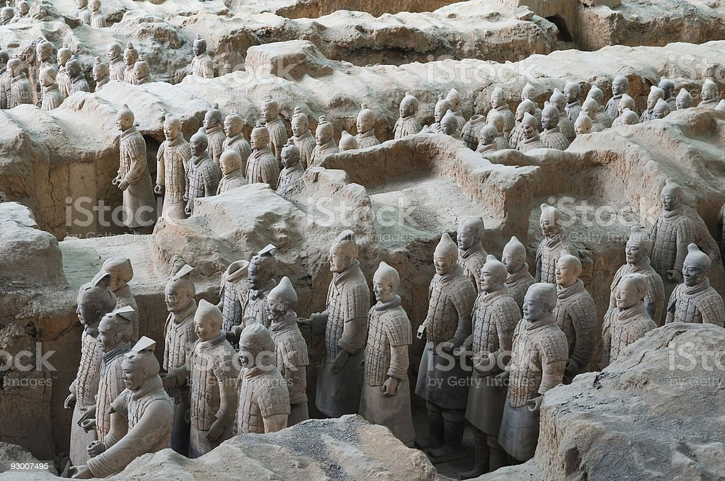 Terracotta Army royalty-free stock photo