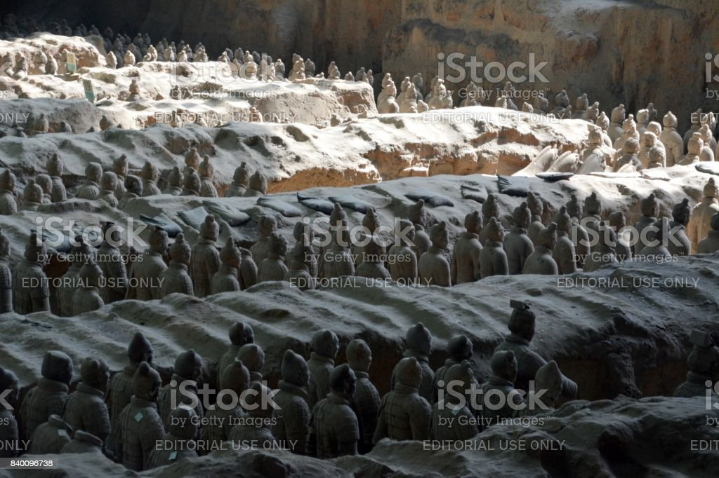 Terracotta Army soldiers of Xi'an, Shaanxi, China stock photo