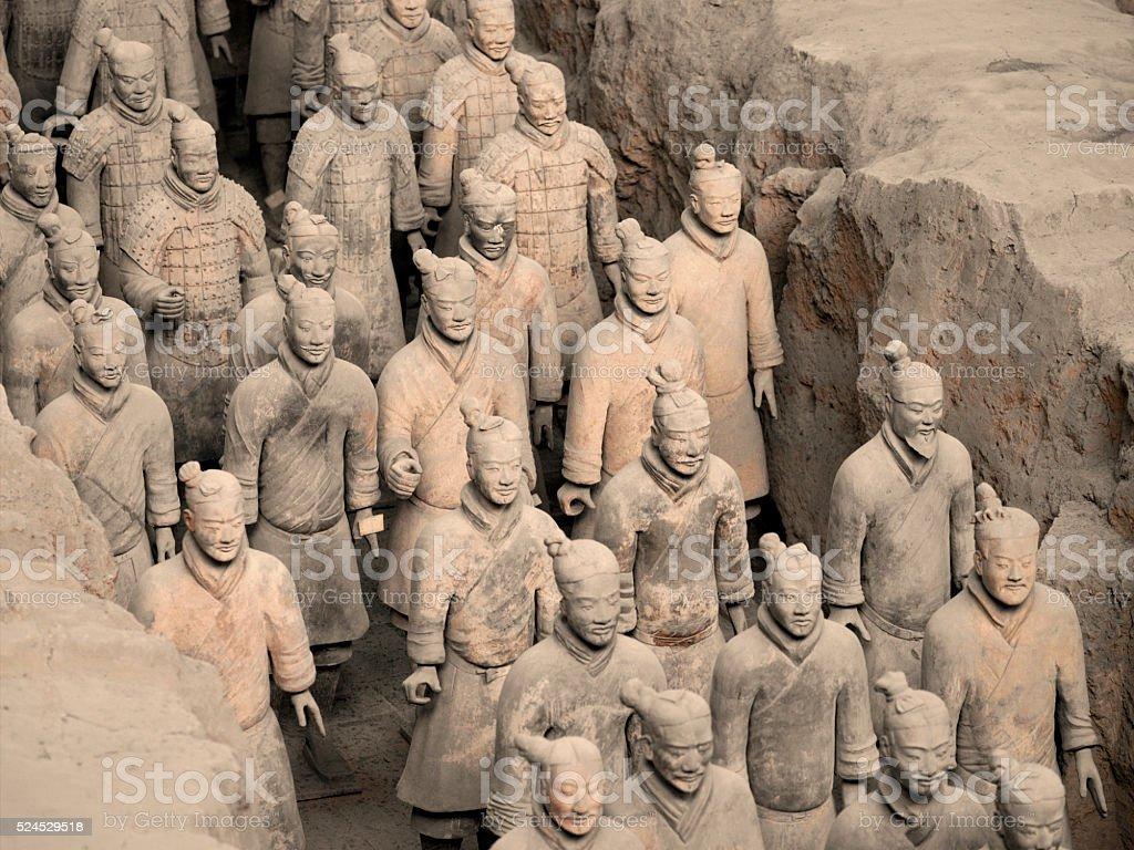 Terracotta Army - Xian - China stock photo