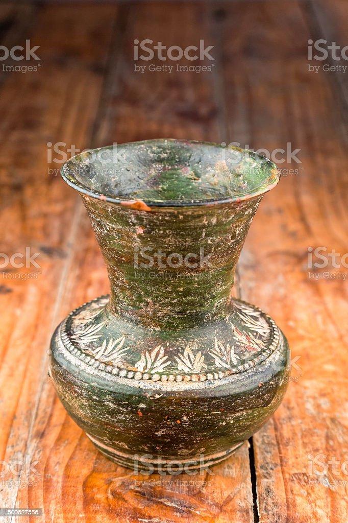 Terracotta Decanter stock photo