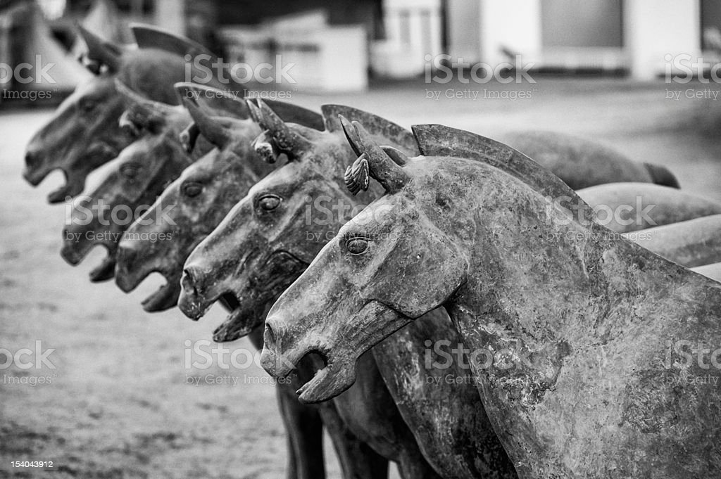 Terracotta Horses stock photo