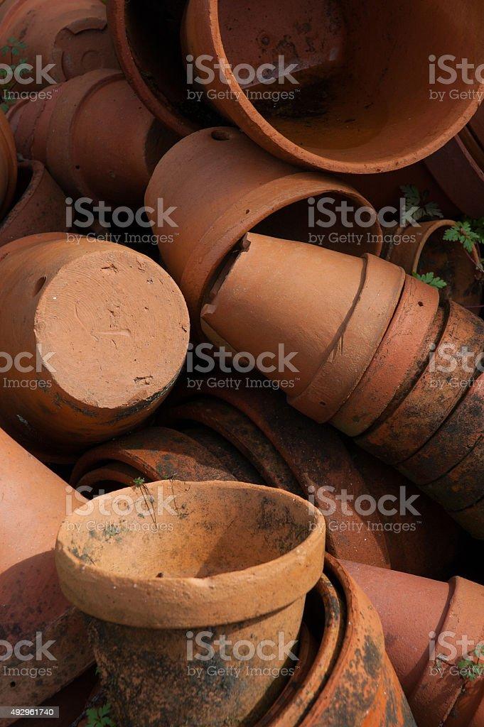 Terracotta pots. Clay vases. royalty-free stock photo