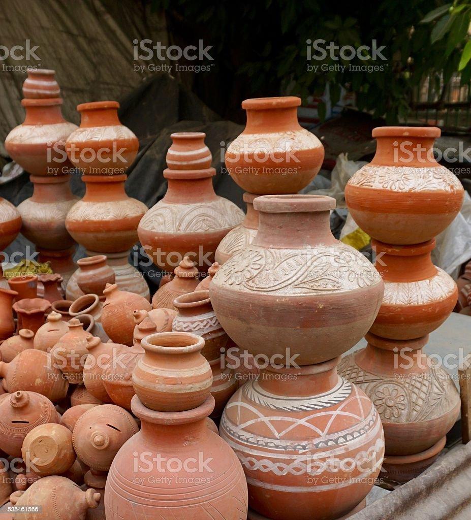 Terracotta Pottery stock photo