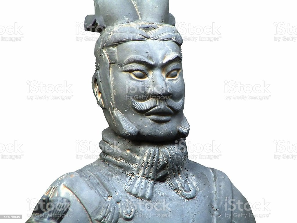 Terracotta Soldier of Ancient Chinese Emporer Qin Shihuang(Qin D royalty-free stock photo
