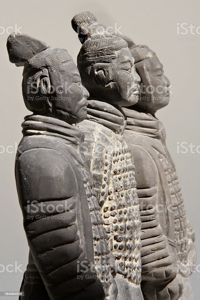 terra-cotta Soldiers Chinese Archaeologic Historic Antique of China royalty-free stock photo