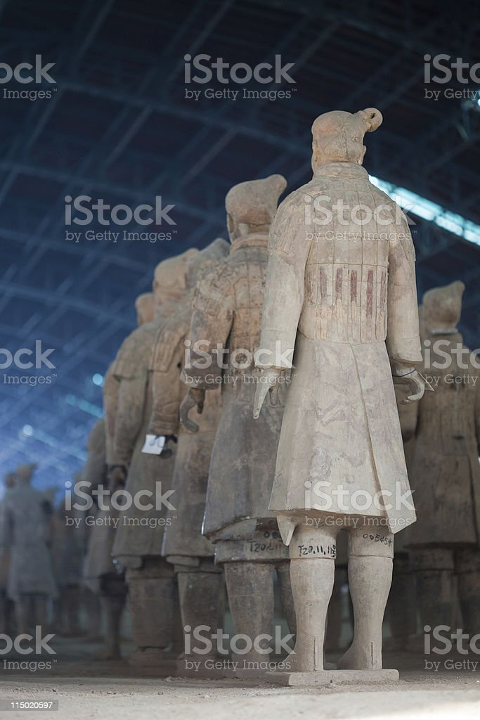 Terracotta Soldiers royalty-free stock photo