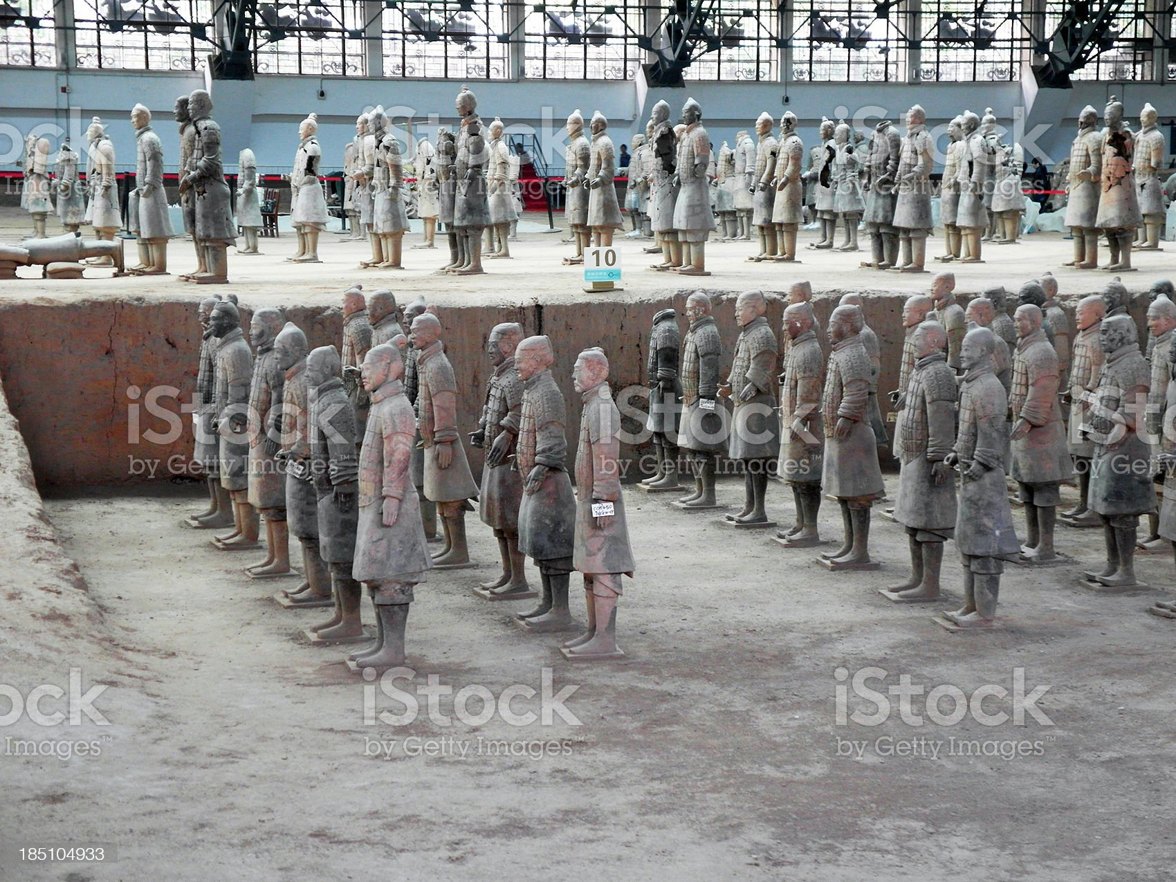 Terracotta Soldier's Restauration royalty-free stock photo